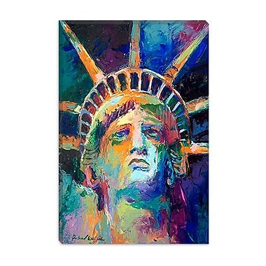 iCanvas ''Statue'' by Richard Wallich Painting Print on Wrapped Canvas; 40'' H x 26'' W x 1.5'' D