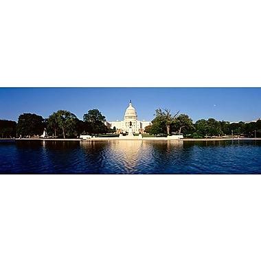 iCanvas Panoramic Washington, D.C, U.S. Capitol Building Photographic Print on Canvas