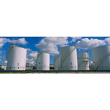 iCanvas Panoramic Storage Tanks in a Factory, Miami, Florida Photographic Print on Wrapped Canvas