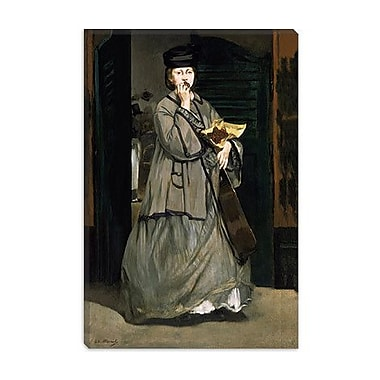 iCanvas 'Street Singer' by Edouard Manet Painting Print on Wrapped Canvas; 26'' H x 18'' W x 1.5'' D