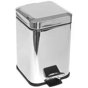 Gedy by Nameeks Metal 1.41 Gallon Step On Trash Can; Stainless Steel