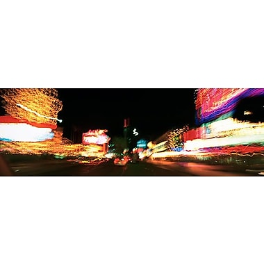 iCanvas Panoramic The Strip at Night, Las Vegas, Nevada Photographic Print on Wrapped Canvas