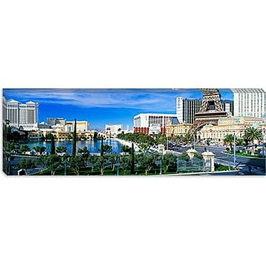 iCanvas Panoramic The Strip Las Vegas Nevada Photographic Print on Wrapped Canvas