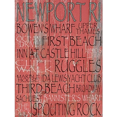 Graffitee Studios Rhode Island Newport Textual Art on Wrapped Canvas