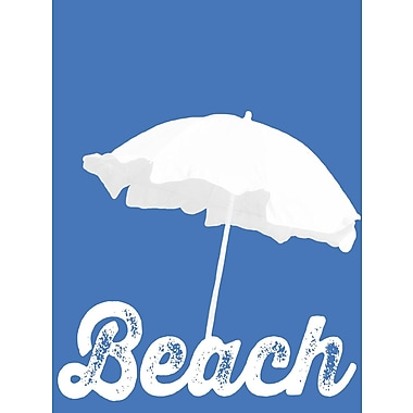 Graffitee Studios Coastal Beach Graphic Art on Wrapped Canvas
