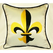 Betsy Drake Interiors Garden Fleur-de-lis Indoor/Outdoor Throw Pillow
