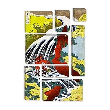 iCanvas 'Yoshitsune Falls' by Katsushika Hokusai Graphic Art on Canvas; 40'' H x 26'' W x 1.5'' D