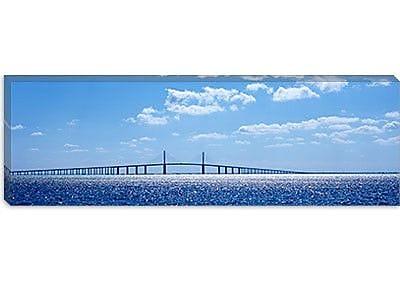 iCanvas Panoramic Sunshine Skyway Bridge, Tampa Bay, Florida Photographic Print on Canvas