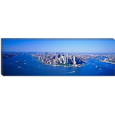 iCanvas Panoramic Aerial Lower Manhattan New York City NY Photographic Print on Canvas