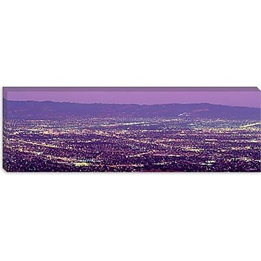iCanvas Panoramic Aerial Silicon Valley San Jose, California Photographic Print on Canvas