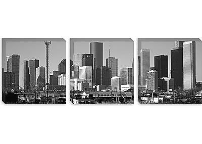 iCanvas Houston Panoramic Skyline Cityscape Photographic Print on Canvas; 20'' H x 60'' W x 1.5'' D