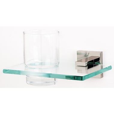 Alno Contemporary II Tumbler and Tumbler Holder; Polished Nickel