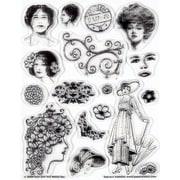 Hot Off the Press Vintage Ladies Clear Stamp Set