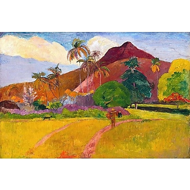 iCanvas 'Tahitian Landscape' by Paul Gauguin Painting Print on Canvas; 8'' H x 12'' W x 0.75'' D