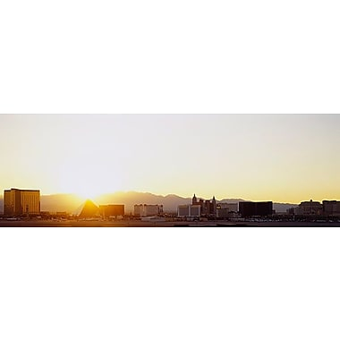 iCanvas Panoramic Sunrise over a City, Las Vegas, Nevada Photographic Print on Wrapped Canvas