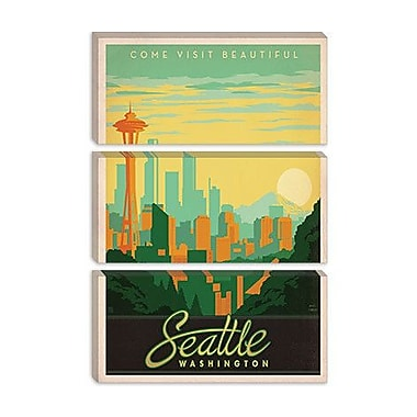 iCanvas ''Seattle, Washington'' by Anderson Design Group Vintage Advertisement on Wrapped Canvas