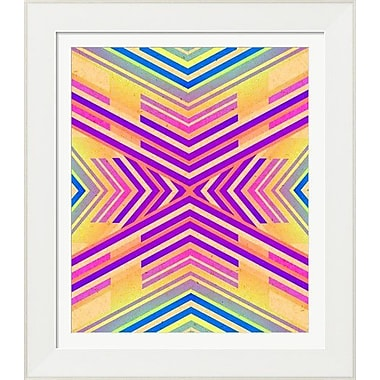 Evive Designs Neon Boho Tribal Geometric by Evie Alessandria Framed Graphic Art