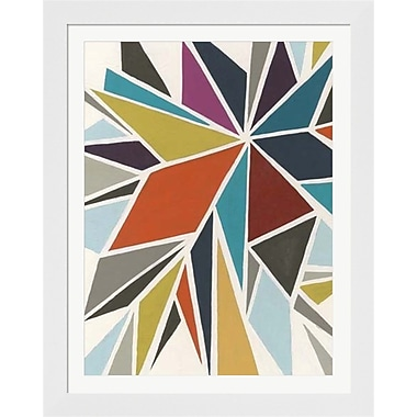 Evive Designs Pinwheel I by June Erica Vess Framed Graphic Art