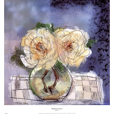 Evive Designs Roses II by Marina Louw Painting Print