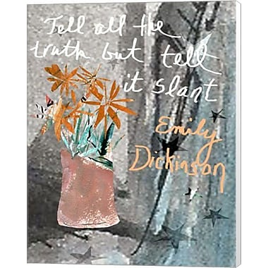 Evive Designs Emily Dickenson Quote by Holly Mcgee Painting Print on Canvas