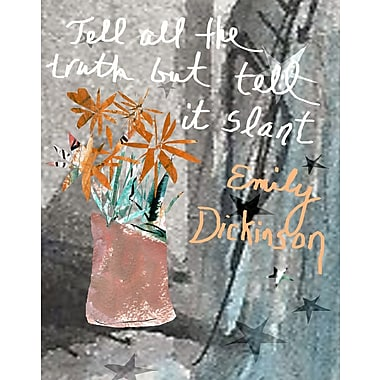 Evive Designs Emily Dickenson Quote by Holly Mcgee Painting Print