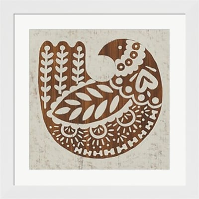 Evive Designs Country Woodcut II Framed Art