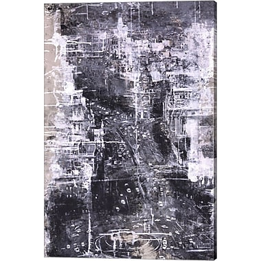 Evive Designs Symphony of the City IV by Jorge Azri Graphic Art on Wrapped Canvas