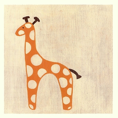 Evive Designs Best Friends Giraffe Paper Print