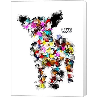 Evive Designs Chihuahua Graffiti by Bri Buckley Graphic Art on Wrapped Canvas