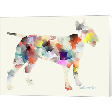Evive Designs Bull Terrier by Bri Buckley Graphic Art on Wrapped Canvas