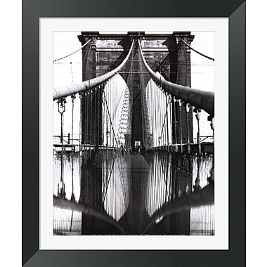 Evive Designs Brooklyn Bridge Framed Photographic Print