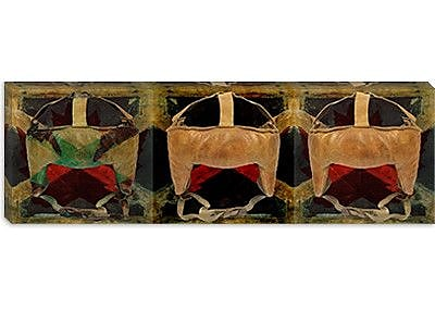 iCanvas Canada Hockey Mask Panoramic #2 Graphic Art on Canvas; 16'' H x 48'' W x 0.75'' D