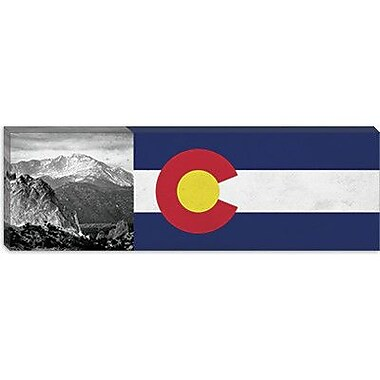 iCanvas Colorago Flag, Pikes Peak Panoramic Graphic Art on Canvas; 16'' H x 48'' W x 0.75'' D