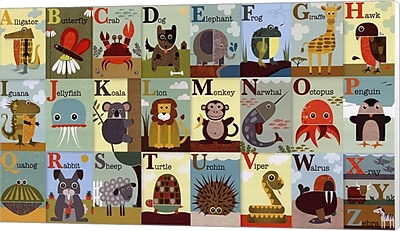 Evive Designs Alphabet Zoo Canvas Art