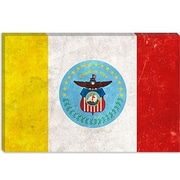iCanvas Columbus Flag, Grunge Painting Print on Canvas; 12'' H x 18'' W x 0.75'' D