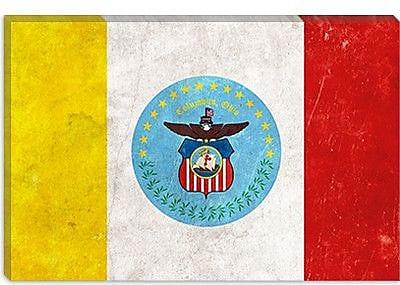 iCanvas Columbus Flag, Grunge Painting Print on Canvas; 26'' H x 40'' W x 1.5'' D