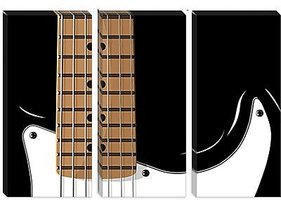 iCanvas 'Electric Guitar' by Michael Tompsett Graphic Art on Canvas; 18'' H x 26'' W x 0.75'' D