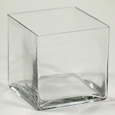 Entrada Square Glass Vase; 8'' H x 8'' W x 8'' D