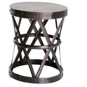 Fashion N You Hammered Drum Cross Table / Stool; Dark Bronze