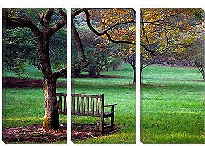 iCanvas 'Place to Sit' by J.D. McFarlan Painting Print on Canvas; 26'' H x 40'' W x 1.5'' D