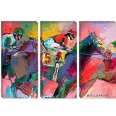 iCanvas 'Race 2' by Richard Wallich Painting Print on Canvas; 26'' H x 40'' W x 1.5'' D