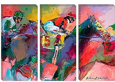 iCanvas 'Race 2' by Richard Wallich Painting Print on Canvas; 18'' H x 26'' W x 1.5'' D