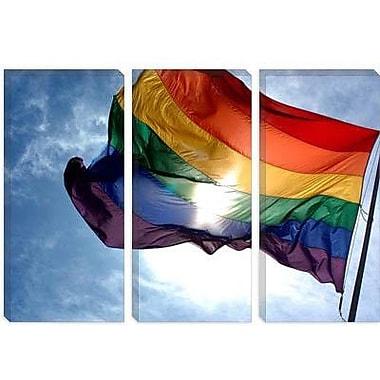 iCanvas LGBT Rainbow Flag Gay Pride Photographic Print on Canvas; 12'' H x 18'' W x 0.75'' D
