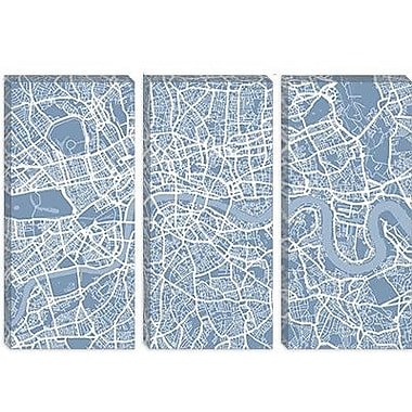 iCanvas 'London Map II' by Michael Tompsett Graphic Art on Canvas; 40'' H x 60'' W x 1.5'' D