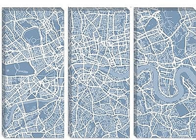 iCanvas 'London Map II' by Michael Tompsett Graphic Art on Canvas; 18'' H x 26'' W x 1.5'' D