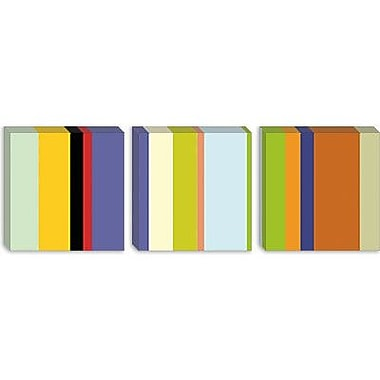 iCanvas Striped 'For the Love of Color' Graphic Art on Canvas; 16'' H x 48'' W x 0.75'' D