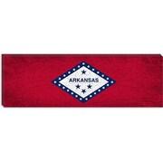 iCanvas Arkansas Flag, Grunge Panoramic Graphic Art on Canvas; 12'' H x 36'' W x 0.75'' D