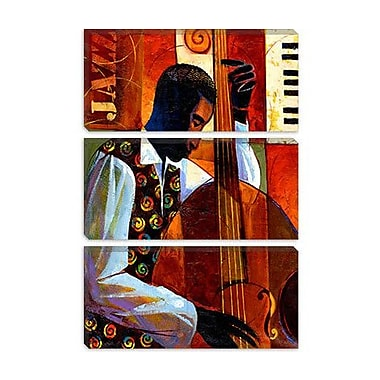 iCanvas 'Jazz' by Keith Mallett Painting Print on Canvas; 18'' H x 12'' W x 1.5'' D