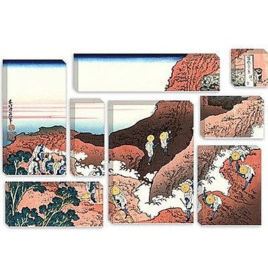 iCanvas 'Climbing on Mt. Fuji' by Katsushika Hokusai Painting Print on Canvas