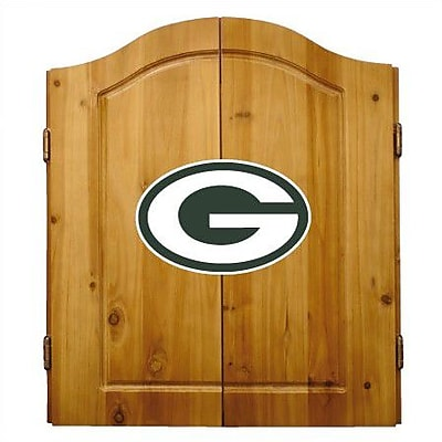 Imperial International NFL Team Logo Complete Dart Cabinet Set; Green Bay Packers
